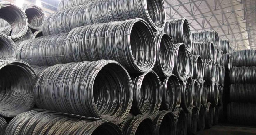 مفتول فولادی پرکربن موجود در انبار فولاد مارکت