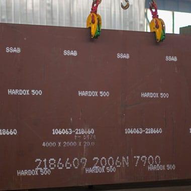 ورق ضدسایش با سختی 500 موجود در انبار فولاد مارکت