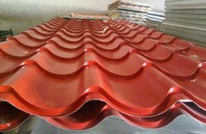 ورق شیروانی طرح کرکره سینوسی موجود در انبار فولاد مارکت