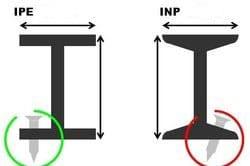تیرآهن IPE , INP موجود در فولاد مارکت